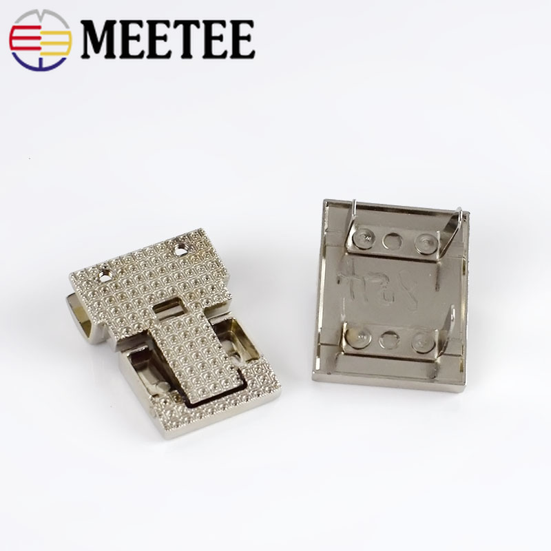 Meetee 2pcs 38X28mm Metal Bag Lock Clasp Handbags Twist Lock Switch Latch Padlock Buckles DIY Hardware Decoration Accessories in Buckles Hooks from Home Garden
