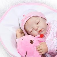 fashion sleeping Dolls 50 cm silicone reborn baby doll children's toys for girls 20 inch babies born doll