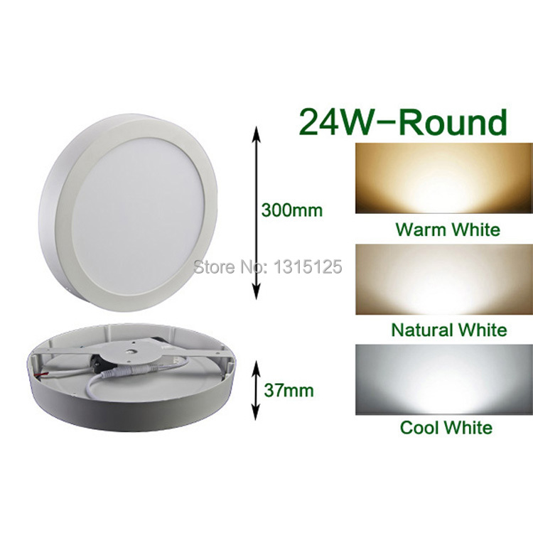 24W Bright Round LED Surface Mounted Ceiling Light SMD 2835 Panel Light For Home BedRoom kitchen Room illumination Free Shipping цена