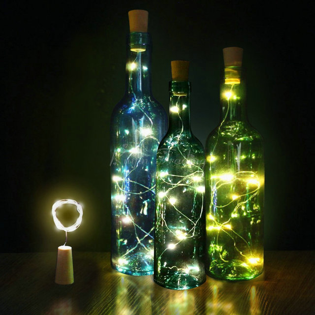 Aliexpress Com Buy 15 20 Led Diy Cork Light String Wine
