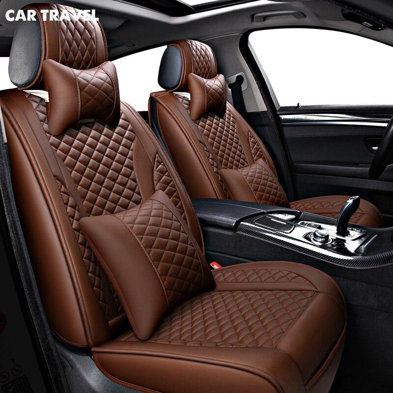 VIAGGI in AUTOMOBILE cuoio car seat covers per mazda cx5 lada largus nissan leaf kia sorento bmw x5 e70 audi a3 8 v seggiolini auto proteggere