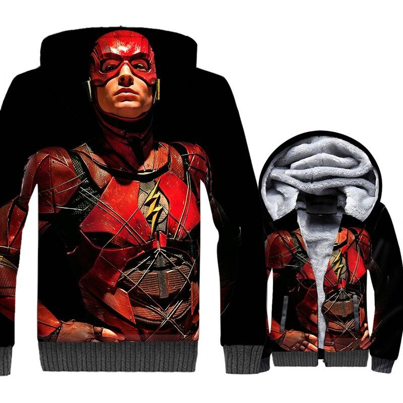 3D Printed Men's Clothing Autumn Winter Fleece Hooded Hoodie 2018 Fashion THE FLASH Streetwear Hoodies Men Harajuku Sweatshirts