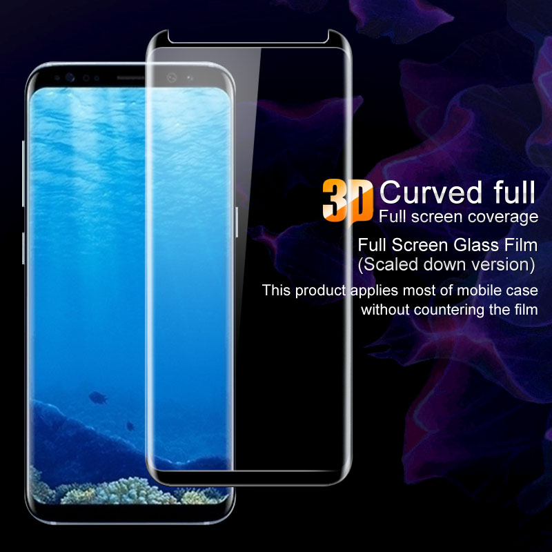 Imak 3D Curved Full Tempered Glass For Samsung Galaxy S8/S8 Plus Screen Protector for Samsung S8/S8+ Dual Sim Protective Film