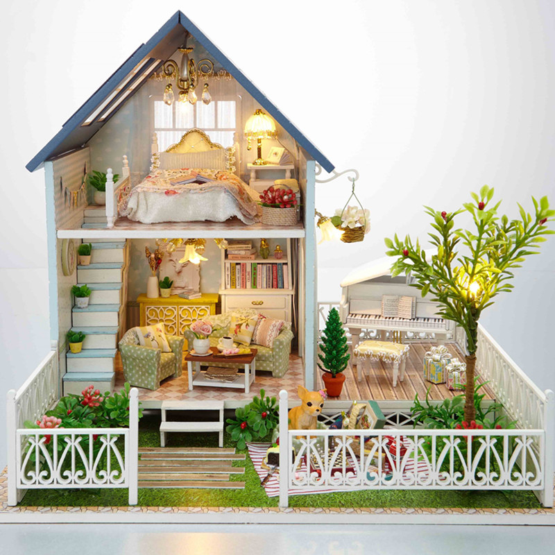 Home Decoration Crafts DIY Doll House Doll Doll Houses Miniature DIY - Anak patung dan aksesori - Foto 2