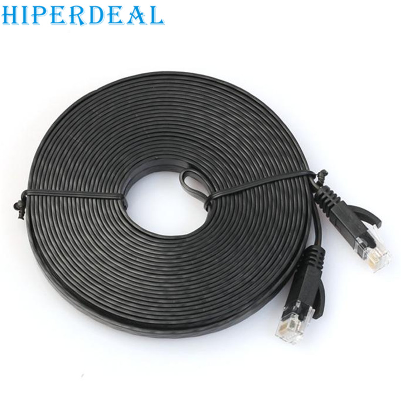 Top Department Store Store HIPERDEAL Advanced Cable 760cm Flat Cat6 Network Ethernet Patch Cable Modem Router RJ45 for LAN Network 2017  drop shipping 1pc