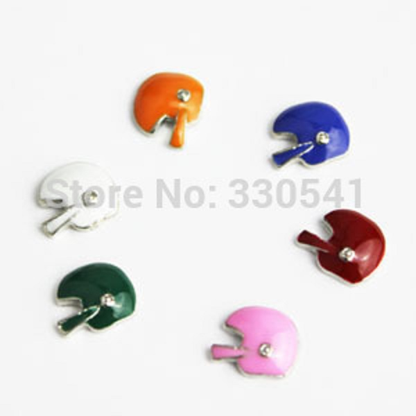 60pcs/lot Good Quality Mixed Enamel Football Helmet Floating charm For Glass Locket! HM-MIX