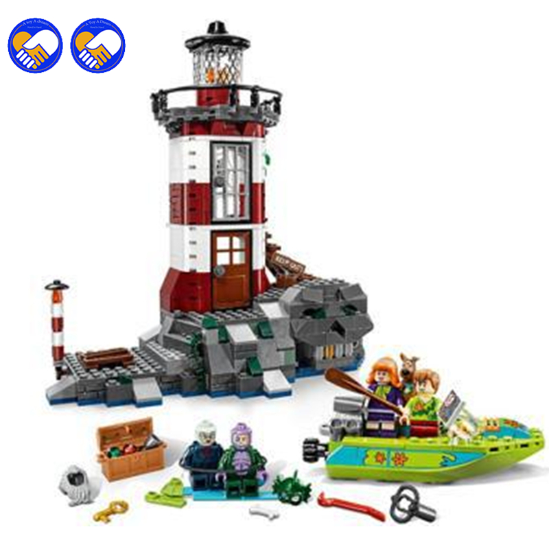 A toy A dream 437pcs Bela 10431 Haunted Lighthouse Scooby Doo Dog Model Bricks Blocks 3D Kids Toy Gifts Legoingly