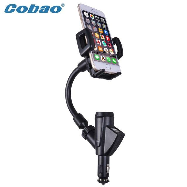 Универсальный USB автомобильный держатель мобильного телефона с зарядным устройством Cobao марка зарядка держатель для большинства телефонов, смартфонов Iphone 5s 6 6 s плюс