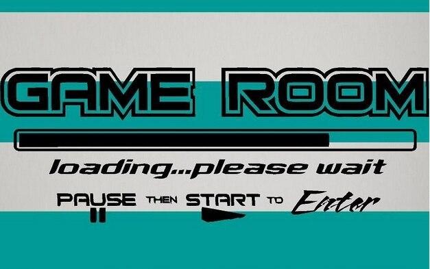 Game Room Wall Sticker Words U0026 Phrases Matte Black Play Room Mural Pvc Wall  Sticker Kids