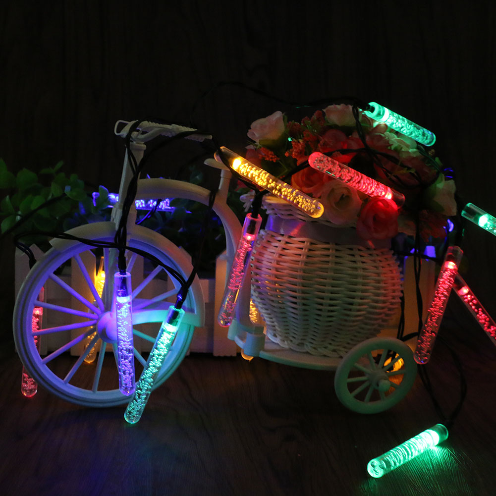 20 LED Christmas Decoration Lights Water Solar Fairy String Lights For Outdoor  Garden Party Wedding Deco