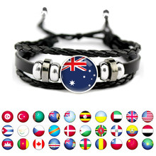 United Kingdom Iran Chile Aruba France Japan Panama Paraguay Austria Egypt South Korea England Australia Flag Men Women Bracelet(China)