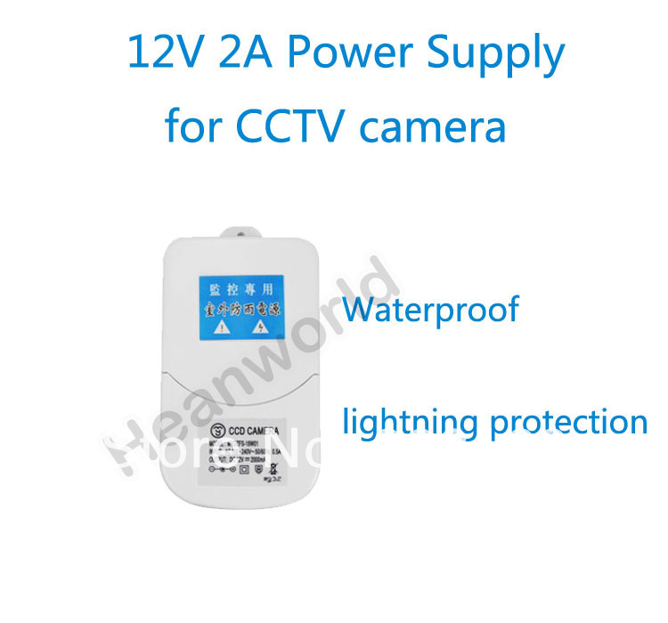Heanworld 12V2A Special Power supply adapter for CCTV camera Waterproof also lightning protection,camera power supply autoeye cctv camera power adapter dc12v 1a 2a 3a 5a ahd camera power supply eu us uk au plug