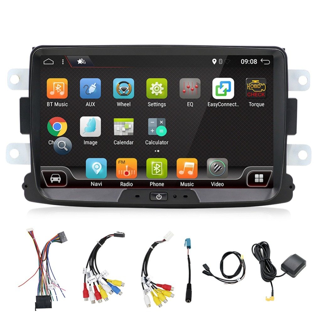 Bosion Car Audio with GPS Navigation for Renault Duster 2010, Car Stereo with Android 7.1,8' Muti Touch Screen DVD Player