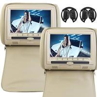 Universal 9 Inch Digital Display Screen Car Headrest Monitors DVD Player Dual Twin Screens USB SD