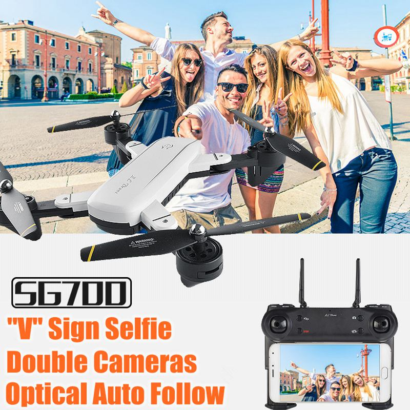 SG700 Selfie Rc Drone With Camera Drone Wifi Fpv Quadcopter Optical Follow Flying Helicopter RC Toy Copter Vs Visuo Xs809hw 19HW