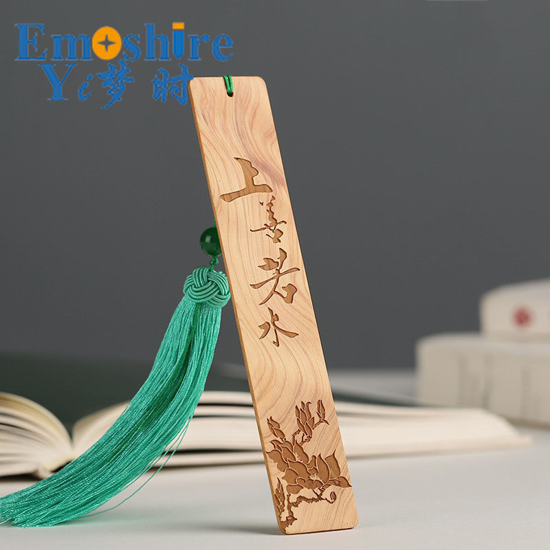 Office Gifts Creative Wood Bookmarks Retro Chinese Wooden Bookmarks Mahogany Bookmarks Custom Logo M054 wooden ancient bookmarks chinese complex classical teachers festival gifts bookmarks creative bookmarks sets m097