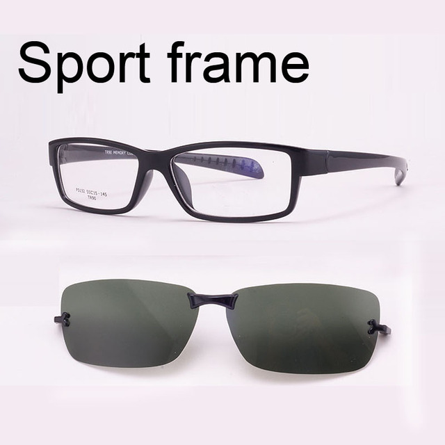 1fba8c84cb Free Shiping Ultra-light Tr90 Eyeglasses Frame Belt Magnet Clip Myopia  Glasses Polarized Sunglasses Sports