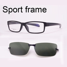 Free Shiping  Ultra-light Tr90 Eyeglasses Frame Belt Magnet Clip Myopia Glasses Polarized Sunglasses Sports Sunglasses