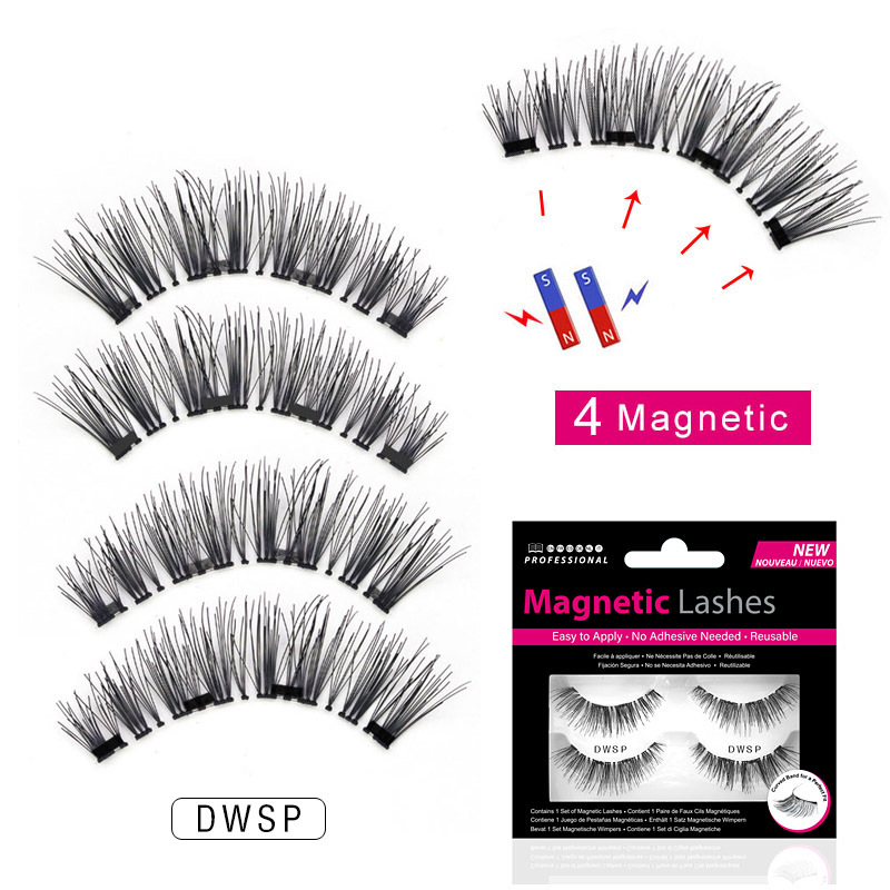 1 Pairs <font><b>Magnetic</b></font> <font><b>Eyelashes</b></font> <font><b>With</b></font> <font><b>4</b></font> <font><b>Magnets</b></font> <font><b>Magnetic</b></font> Lashes Natural 3D False <font><b>Eyelashes</b></font> <font><b>Magnet</b></font> Lashes <font><b>Eyelashes</b></font> Extensions Makeup image