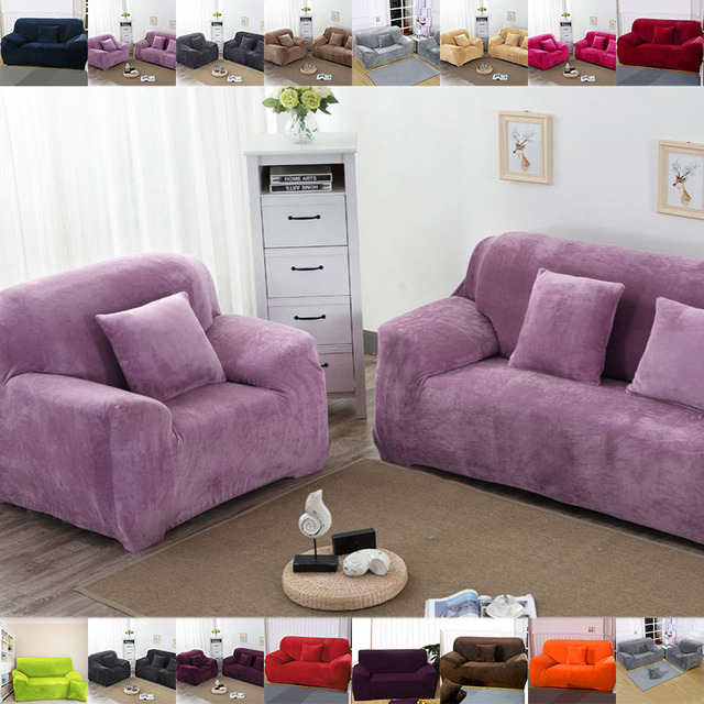 line Shop Stretch Thickening Plush Chair Sofa Cover Protector