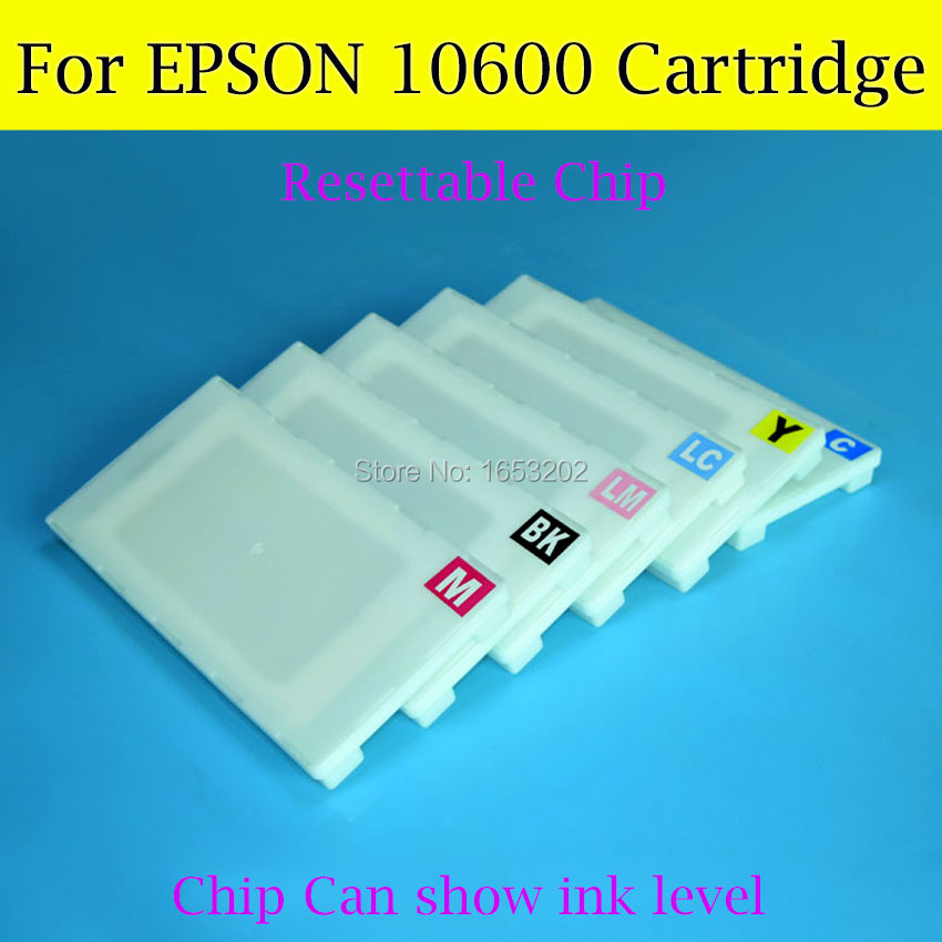 NEW And HOT Wide Format Ink Cartridge For Epson 10600 With Resettable Cartridge Chip Compatible 10600 Cartridge