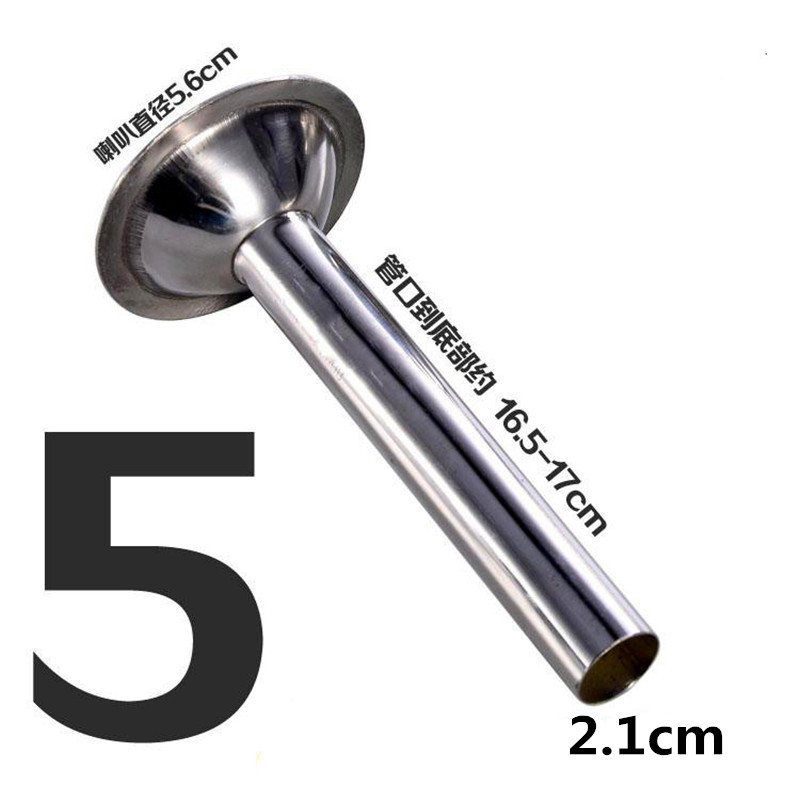 1pcs thick meat grinder parts stuffer head for Sausage casings funnel handmade stainless steel tube ...