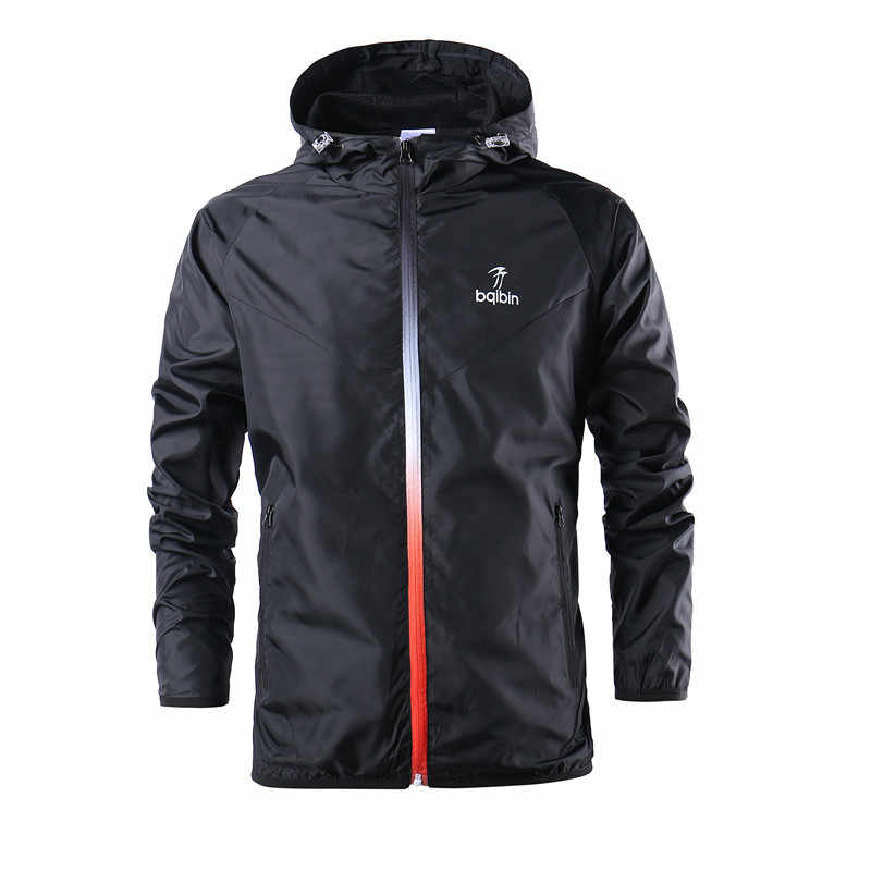84af415adb4 2018 New Spring Summer Mens Fashion Outerwear Windbreaker Men  S Thin  Jackets Hooded Casual Sporting