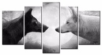 Free Shipping Animal Series Wolf Canvas Prints Oil Painting Printed On Canvas Wall Art Decoration Picture