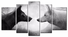 Free shipping Animal series Wolf canvas prints oil painting printed on canvas wall art decoration picture Home Decor Artwork/