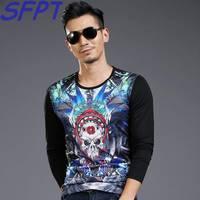 SHIFOPUTI Summer Style T Shirts Men Black Color Cotton O Neck 3D Pullover Tops Men Slim