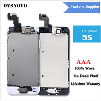 LCD Display For IPhone 5S Touch Screen Digitizer Full Assembly Home Button Front Camera Tools Glass