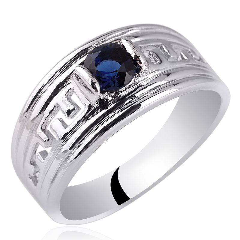 Hot Sale Rhodium Finish Men 925 Sterling Silver Ring Man Jewelry Size 10 to 13 R518