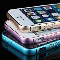 HOT! 2016 Aluminum Bumper Case para iphone 5 5S 5 Círculo de Moda arco Botão de Metal Botão Quadro Luxo Metal Casos para iPhone5 5S