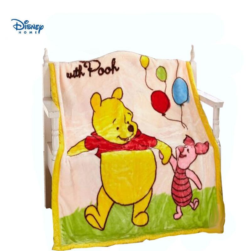 disney blanket winnie the pooh bear 110*140cm bedspread 3d cartoon home decor soft flannel throw blanket for bed sofa travel kid
