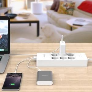 Image 5 - オリコ電気ソケットプラグアダプタと5ポートusb充電器4 6 8 acポート2500ワット出力ホームオフィスでの使用