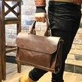Saco stacy marca de alta qualidade dos homens de couro bolsa de moda masculina breve sólido alças de ombro grande tote bag laptop saco maleta