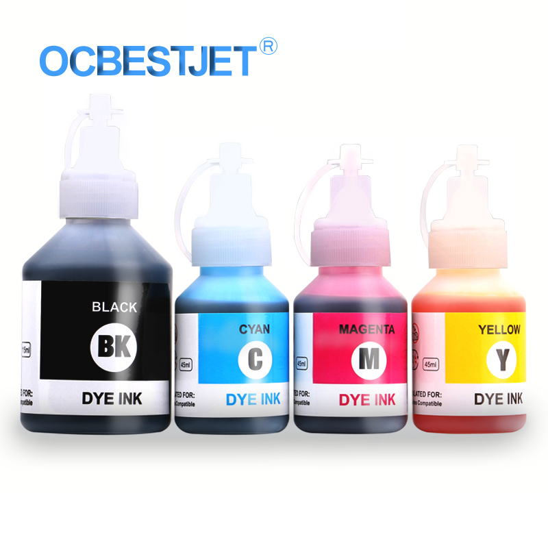 OCBESTJET 400ML High-end Universal Dye Ink For Epson For Brother Desktop Printer Refillable Ink Refill Kit