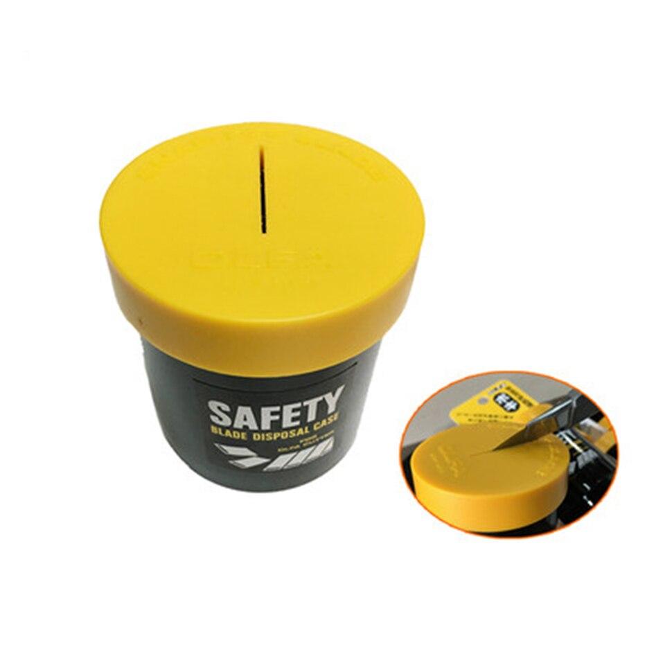 Safety Cutter Blade Disposal Case Box Re-Usable knife Storage Pocket CT-GJDC-1