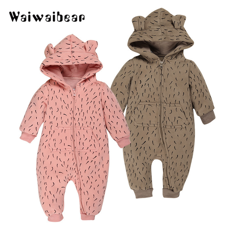 Baby Fleece Romper Autumn Winter Long- Sleeved Hooded Rompers Baby Overalls Leopard Romper Toddler Clothing Jumpsuits 4kg refill laser copier color toner powder kits for xerox 113r00692 113r00689 113r00690 phaser 6120 6115mfp 6115 6120mfp printer