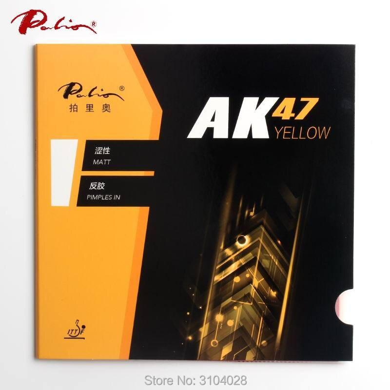 Borracha tênis de mesa Palio Ak47 oficial 40 + amarelo esponja amarela para loop e ataque rápido novo estilo para o jogo de ping pong raquete