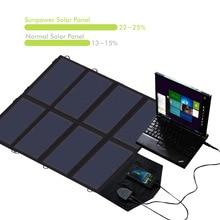 ALLPOWERS 5 V 18 V 40 W Cargador Solar Plegable Panel Solar Cargadores de Uso al Aire Libre de Carga para el iphone Samsung iPad Tablet, ordenadores portátiles.