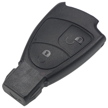 Jingyuqin 2 Buttons Remote Car Key Case Shell for Mercedes Benz B C E S ML SLK CLK Class Fob Cover Car-styling