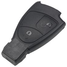 цены на Jingyuqin 2 Buttons Remote Car Key Case Shell for Mercedes for Benz B C E S ML SLK CLK Class Key Shell Fob Cover Car-styling в интернет-магазинах