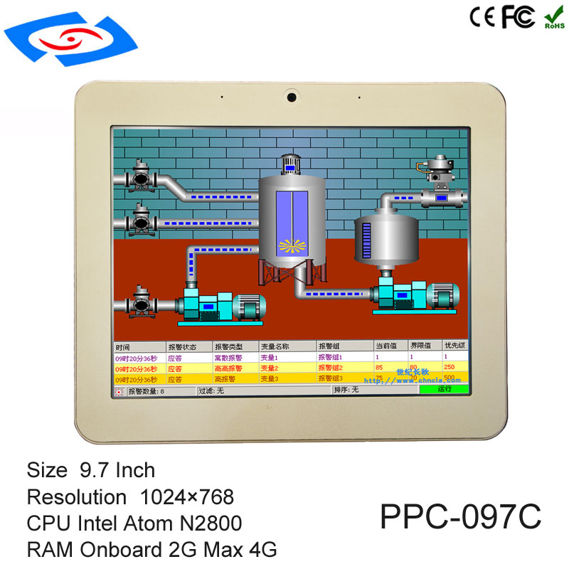 Hot Sale 7inch Fanless Industrial Touch Screen All In One Panel PC With RS485/RS422/RS232 Port All In One Tablet PC