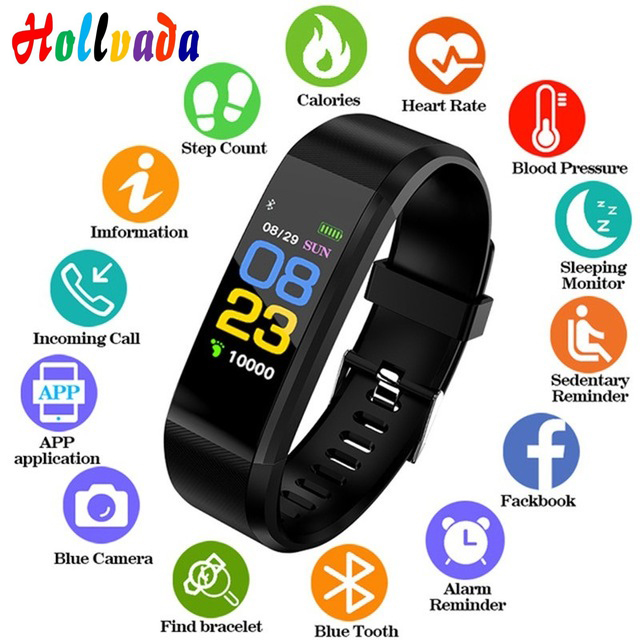 New Smart Wristband Men Women Sport Smart Watch Fitness Tracker Heart Rate Monitor Blood Pressure smart band for ios android