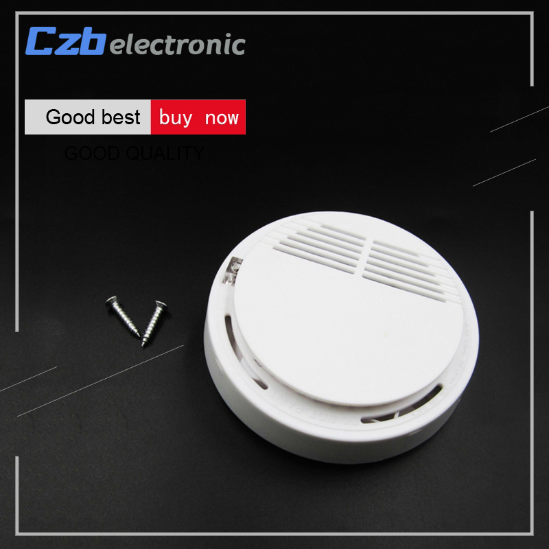 Wireless Alarm Security Smoke Fire Detector Home Security System for Indoor Shop Smoke Alarm Sensor