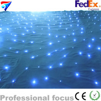Free Shipping Color DMX Stage Effect Backdrop 4m*6m Led Star Curtain