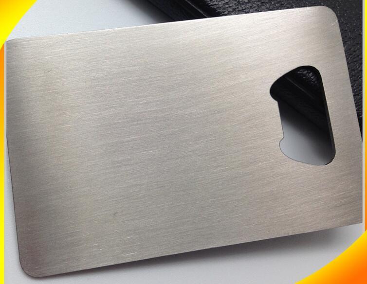 (100pcs/lot)Custom Brushed Stainless Steel Sublimation Promotional Metal Bottle Opener