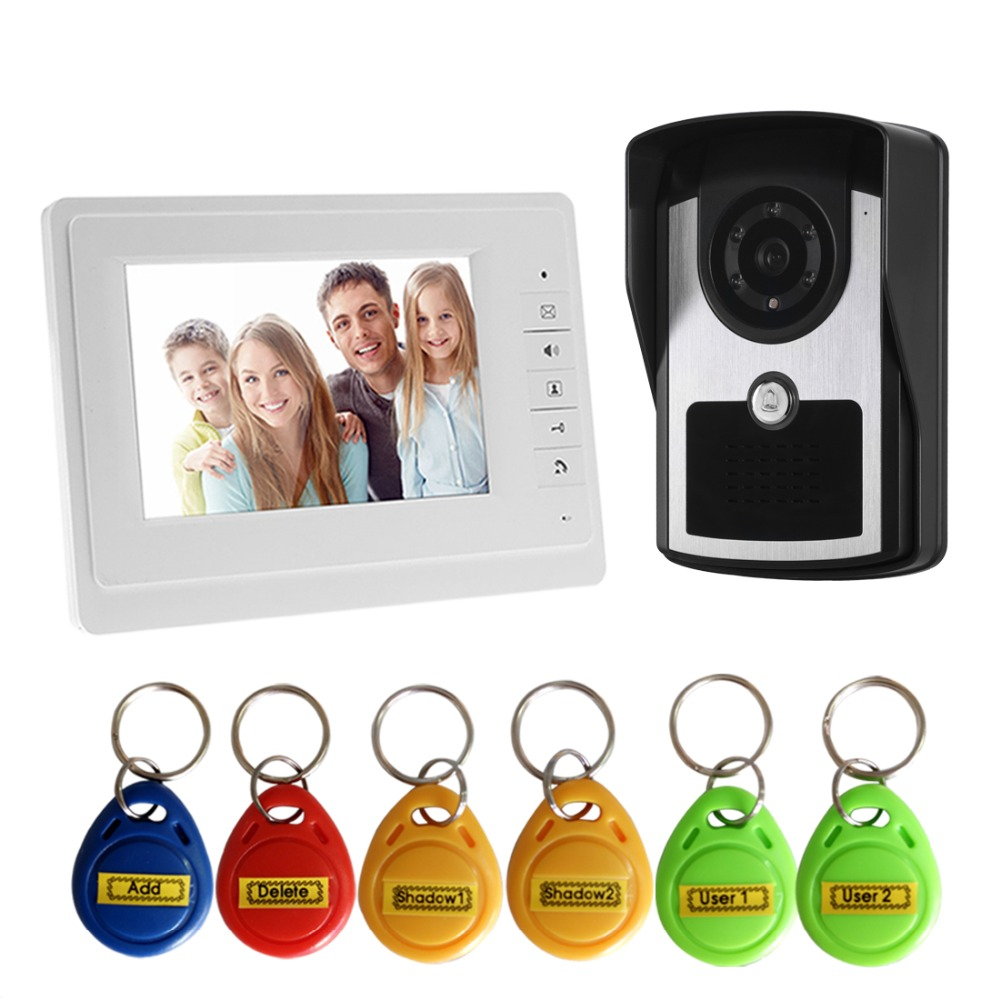 Video Door Phone System 7 Clear LCD Monitor RFID Wired Video Intercom Doorbell Kits Night Vision CameraVideo Door Phone System 7 Clear LCD Monitor RFID Wired Video Intercom Doorbell Kits Night Vision Camera