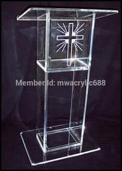 Freies Verschiffen Popularität Schöne Günstige Klar Acryl Rednerpult kirche sockel kanzel plexiglas